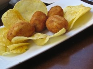 Cheese & Ham & mint croquettes