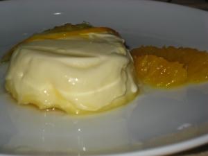 orange and cardamom pannacotta with orange syrup