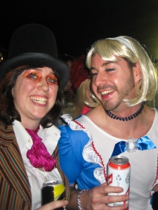 Hatter & Alice - drinking Strongbow & Red Stripe