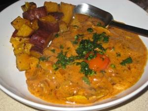 Chicken tikka masala & roasted sweet potato