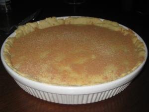 Milk tart with cinnamon