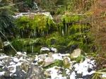 Frozen waterfalls under Cabot Tower