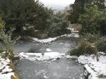 Frozen ponds in Brandon Hill Park