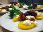 Starters - Ottolenghi polenta, goats cheese & relish