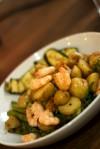 Coriander pesto prawn & new potato salad
