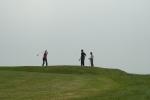 Dramatic golfing scenery