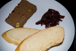 Pate, marmalade and french bread