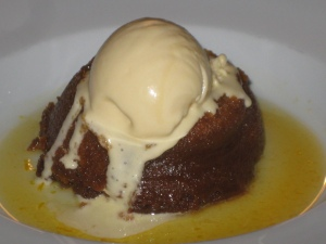 Sticky toffee pud and clotted cream icecream