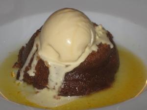 Sticky toffee pud and clotted cream icecream