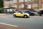 Panning - car in focus, everything else is not!