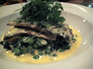 Black bream in Sauce Albert