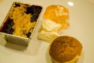 Trio of dessert