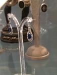 Sapphire Art Deco Earrings