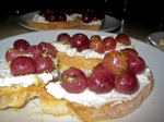 Roasted grapes & ricotta brushetta