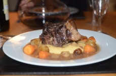Oxtail and parsnip puree