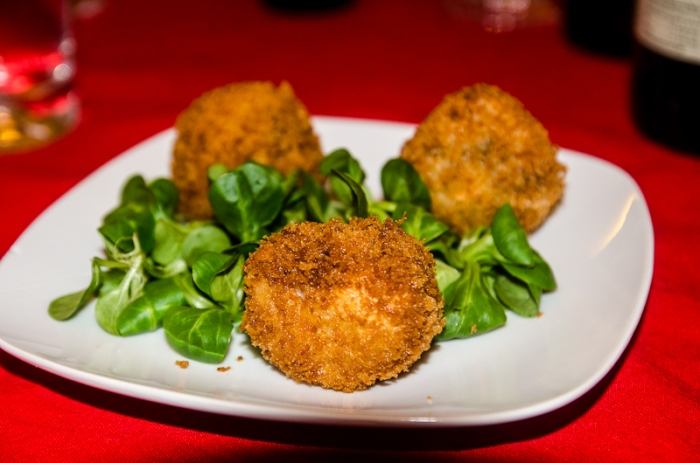 Arancini - stuffed with taleggio