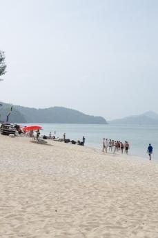 Boat trip beach