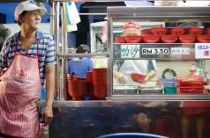 Laksa stall Gurney Drive Market, Penang