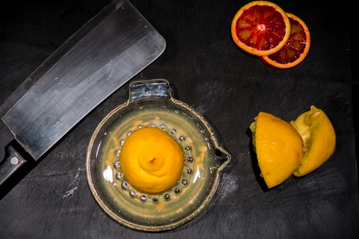 Squeeze some lemons and some blood oranges