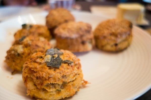 Sage & blue cheese potato scones