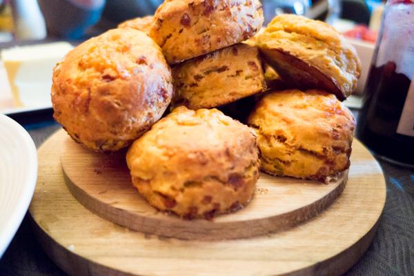 Cheese & Leek scones