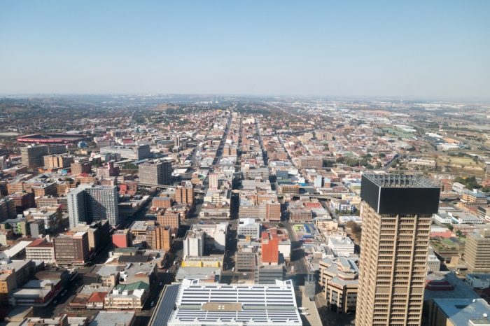 View from the Carlton Centre, central Johannesburg