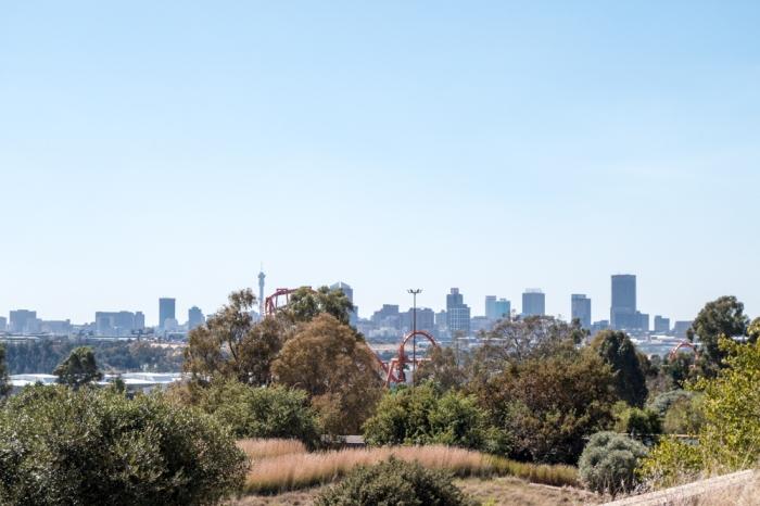 Johannesburg Skyline from the Apartheid Museum